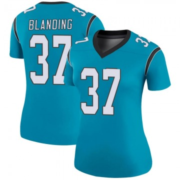 Women's Nike Carolina Panthers Quin Blanding Blue Color Rush Jersey - Legend