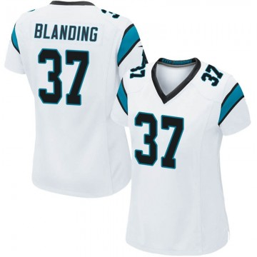 Women's Nike Carolina Panthers Quin Blanding White Jersey - Game