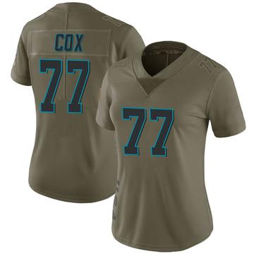 Women's Nike Carolina Panthers Rakim Cox Green 2017 Salute to Service Jersey - Limited