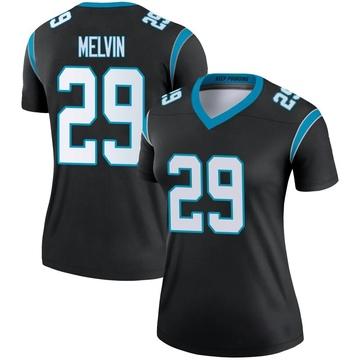 Women's Nike Carolina Panthers Rashaan Melvin Black Jersey - Legend