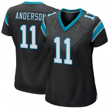 Women's Nike Carolina Panthers Robby Anderson Black Team Color Jersey - Game
