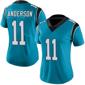 Women's Nike Carolina Panthers Robby Anderson Blue Alternate Vapor Untouchable Jersey - Limited