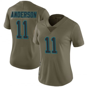 Women's Nike Carolina Panthers Robby Anderson Green 2017 Salute to Service Jersey - Limited