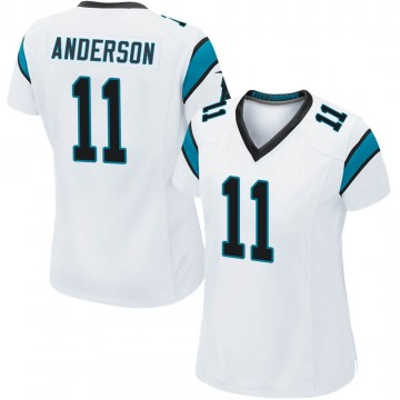 Women's Nike Carolina Panthers Robby Anderson White Jersey - Game