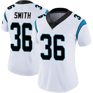 Women's Nike Carolina Panthers Rodney Smith White Vapor Untouchable Jersey - Limited
