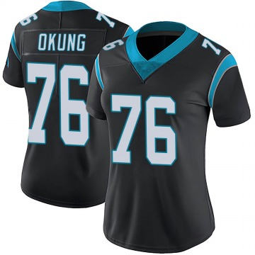 Women's Nike Carolina Panthers Russell Okung Black Team Color Vapor Untouchable Jersey - Limited