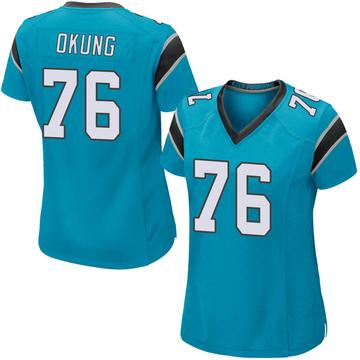 Women's Nike Carolina Panthers Russell Okung Blue Alternate Jersey - Game