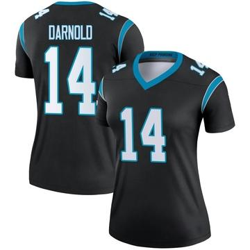Women's Nike Carolina Panthers Sam Darnold Black Jersey - Legend
