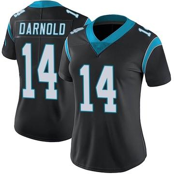 Women's Nike Carolina Panthers Sam Darnold Black Team Color Vapor Untouchable Jersey - Limited