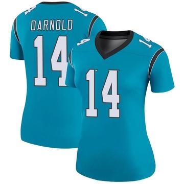 Women's Nike Carolina Panthers Sam Darnold Blue Color Rush Jersey - Legend