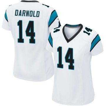 Women's Nike Carolina Panthers Sam Darnold White Jersey - Game