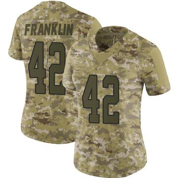 Women's Nike Carolina Panthers Sam Franklin Camo 2018 Salute to Service Jersey - Limited