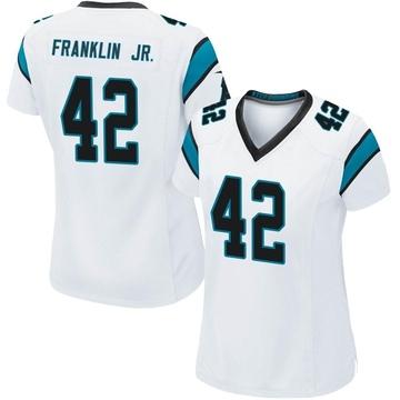 Women's Nike Carolina Panthers Sam Franklin White Jersey - Game