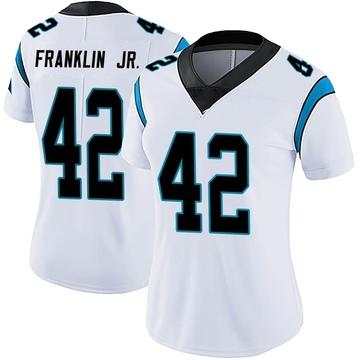 Women's Nike Carolina Panthers Sam Franklin White Vapor Untouchable Jersey - Limited