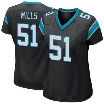 Women's Nike Carolina Panthers Sam Mills Black Team Color Jersey - Game