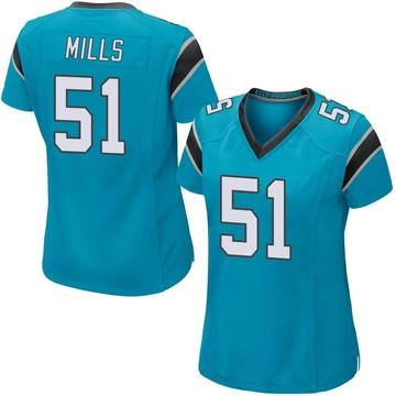 Women's Nike Carolina Panthers Sam Mills Blue Alternate Jersey - Game