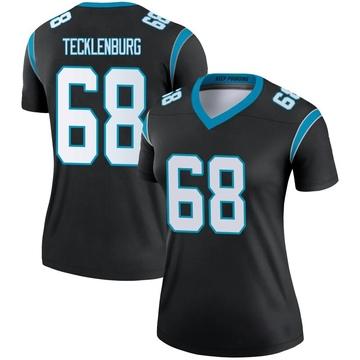 Women's Nike Carolina Panthers Sam Tecklenburg Black Jersey - Legend