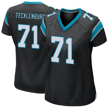 Women's Nike Carolina Panthers Sam Tecklenburg Black Team Color Jersey - Game