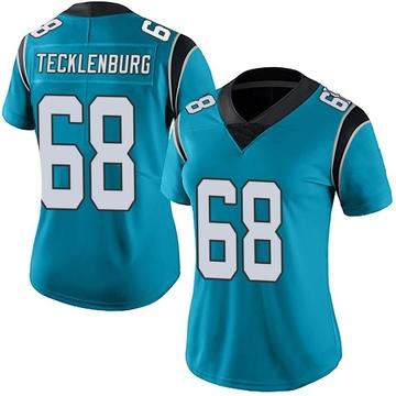 Women's Nike Carolina Panthers Sam Tecklenburg Blue Alternate Vapor Untouchable Jersey - Limited