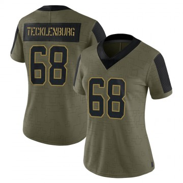 Women's Nike Carolina Panthers Sam Tecklenburg Olive 2021 Salute To Service Jersey - Limited