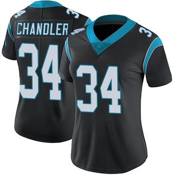 Women's Nike Carolina Panthers Sean Chandler Black Team Color Vapor Untouchable Jersey - Limited