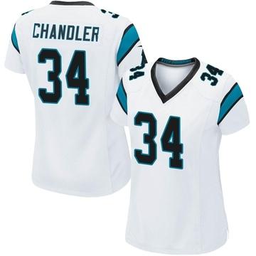 Women's Nike Carolina Panthers Sean Chandler White Jersey - Game