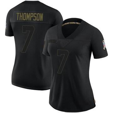 Women's Nike Carolina Panthers Shaq Thompson Black 2020 Salute To Service Jersey - Limited