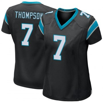Women's Nike Carolina Panthers Shaq Thompson Black Team Color Jersey - Game