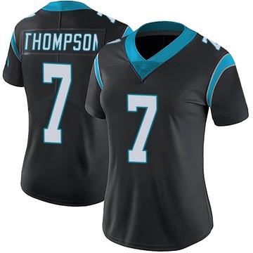 Women's Nike Carolina Panthers Shaq Thompson Black Team Color Vapor Untouchable Jersey - Limited