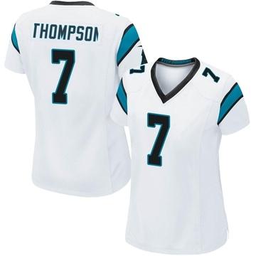 Women's Nike Carolina Panthers Shaq Thompson White Jersey - Game