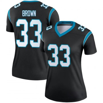 Women's Nike Carolina Panthers Spencer Brown Black Jersey - Legend