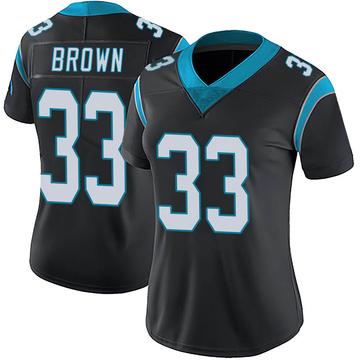 Women's Nike Carolina Panthers Spencer Brown Black Team Color Vapor Untouchable Jersey - Limited