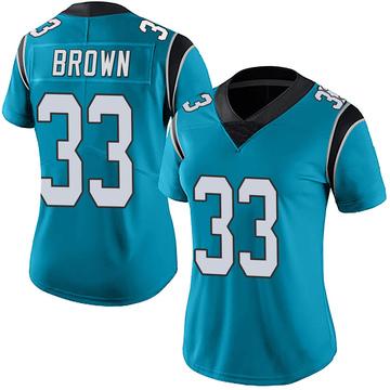 Women's Nike Carolina Panthers Spencer Brown Blue Alternate Vapor Untouchable Jersey - Limited
