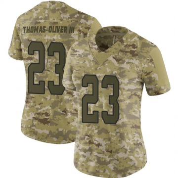 Women's Nike Carolina Panthers Stantley Thomas-Oliver III Camo 2018 Salute to Service Jersey - Limited