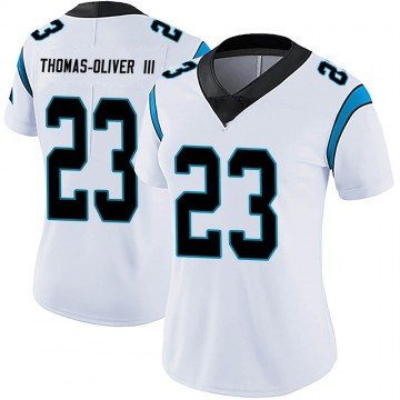 Women's Nike Carolina Panthers Stantley Thomas-Oliver III White Vapor Untouchable Jersey - Limited