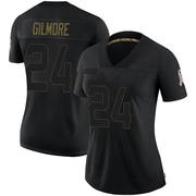 Women's Nike Carolina Panthers Stephon Gilmore Black 2020 Salute To Service Jersey - Limited