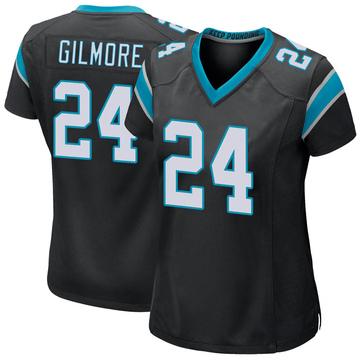 Women's Nike Carolina Panthers Stephon Gilmore Black Team Color Jersey - Game
