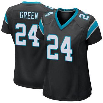 Women's Nike Carolina Panthers T.J. Green Green Black Team Color Jersey - Game