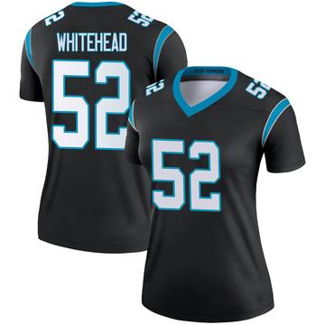Women's Nike Carolina Panthers Tahir Whitehead White Black Jersey - Legend