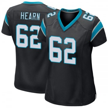 Women's Nike Carolina Panthers Taylor Hearn Black Team Color Jersey - Game