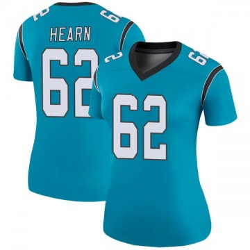 Women's Nike Carolina Panthers Taylor Hearn Blue Color Rush Jersey - Legend