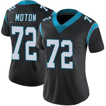 Women's Nike Carolina Panthers Taylor Moton Black Team Color Vapor Untouchable Jersey - Limited