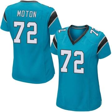 Women's Nike Carolina Panthers Taylor Moton Blue Alternate Jersey - Game