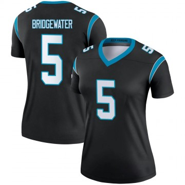 Women's Nike Carolina Panthers Teddy Bridgewater Black Jersey - Legend