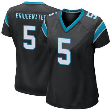 Women's Nike Carolina Panthers Teddy Bridgewater Black Team Color Jersey - Game
