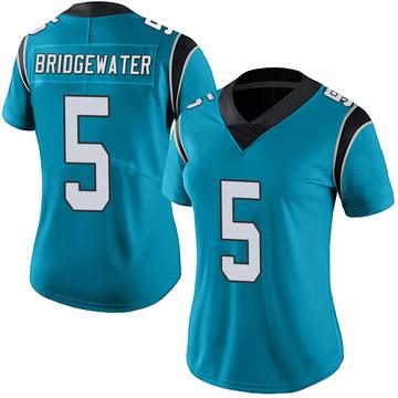 Women's Nike Carolina Panthers Teddy Bridgewater Blue Alternate Vapor Untouchable Jersey - Limited