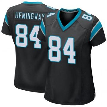 Women's Nike Carolina Panthers Temarrick Hemingway Black Team Color Jersey - Game