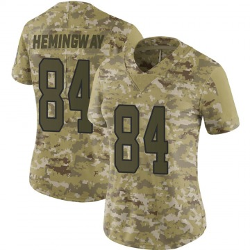 Women's Nike Carolina Panthers Temarrick Hemingway Camo 2018 Salute to Service Jersey - Limited