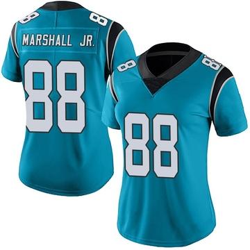 Women's Nike Carolina Panthers Terrace Marshall Jr. Blue Alternate Vapor Untouchable Jersey - Limited