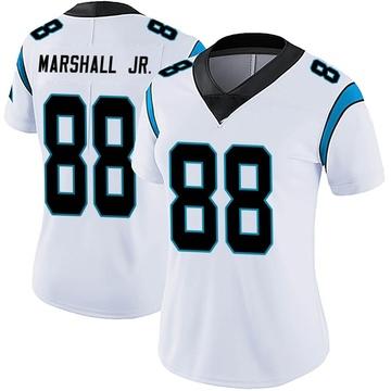 Women's Nike Carolina Panthers Terrace Marshall Jr. White Vapor Untouchable Jersey - Limited